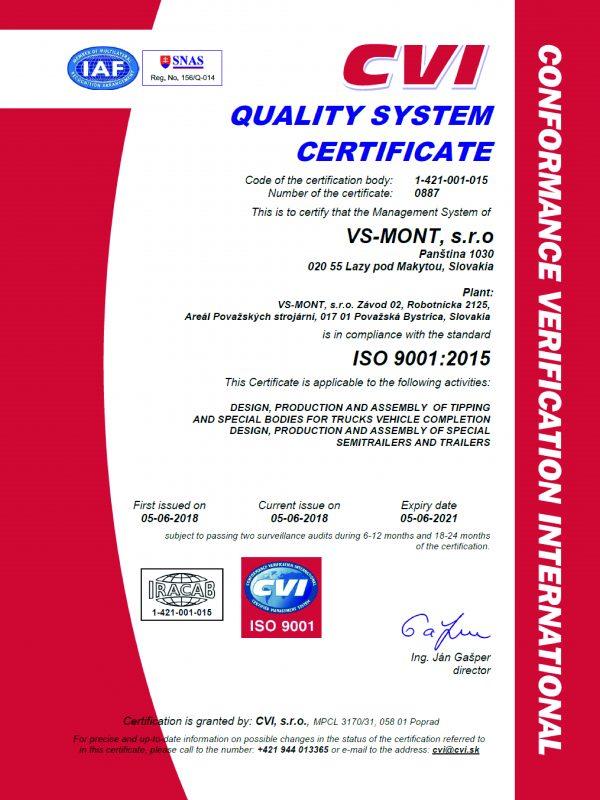 Certifikát ISO 9001_2015 AJ