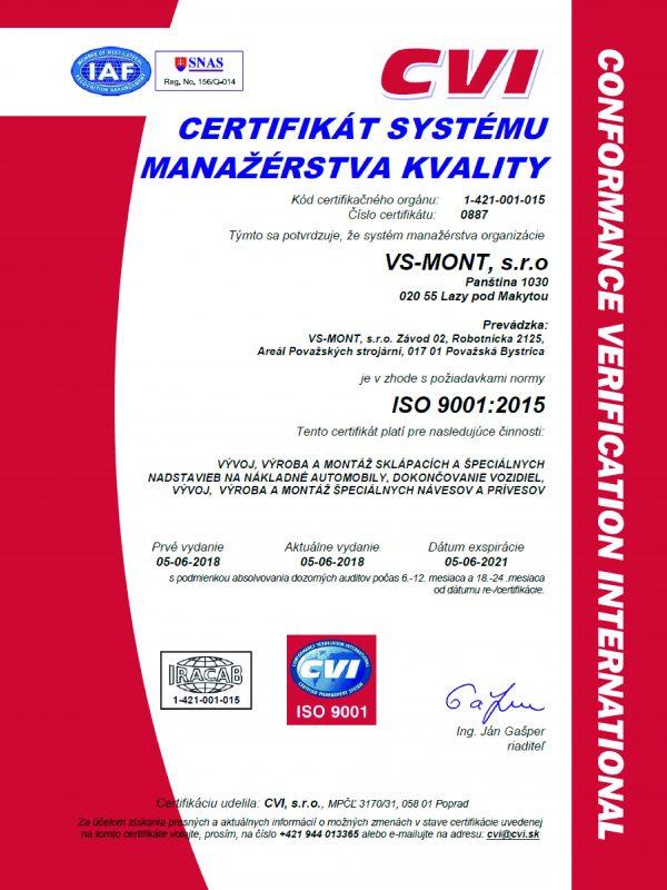 Certifikát ISO 9001_2015 SK