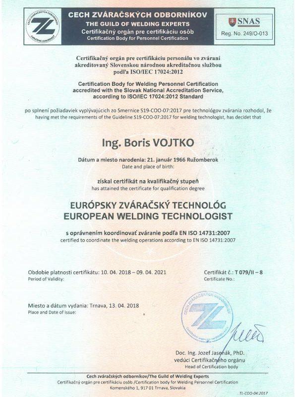 Certifikát---Európsky-zváračský-technológ-(p.-Vojtko)