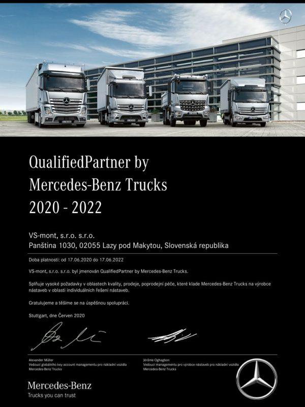 certifikát Mercedes Benz