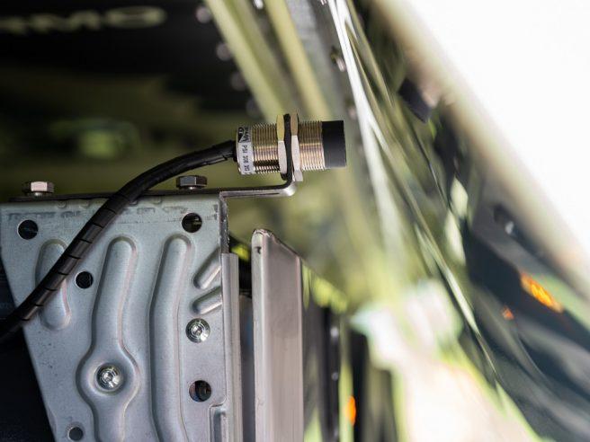 Dotykové čidlo hydraulickej bočnice