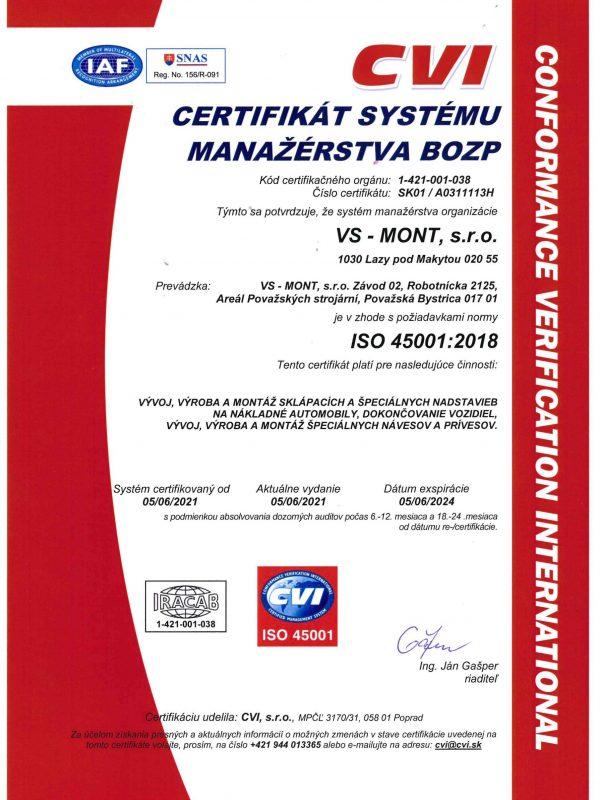 BOZP 45001_2018 SK